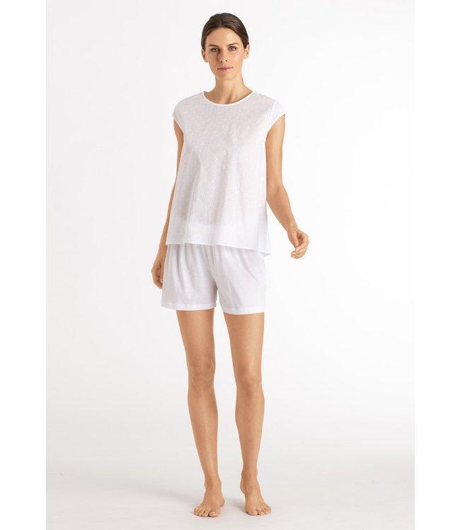 Hanro Kiah Short Pajama White (NEW )
