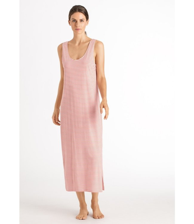 Laura Sleeveless Dress Grapefruit Stripe