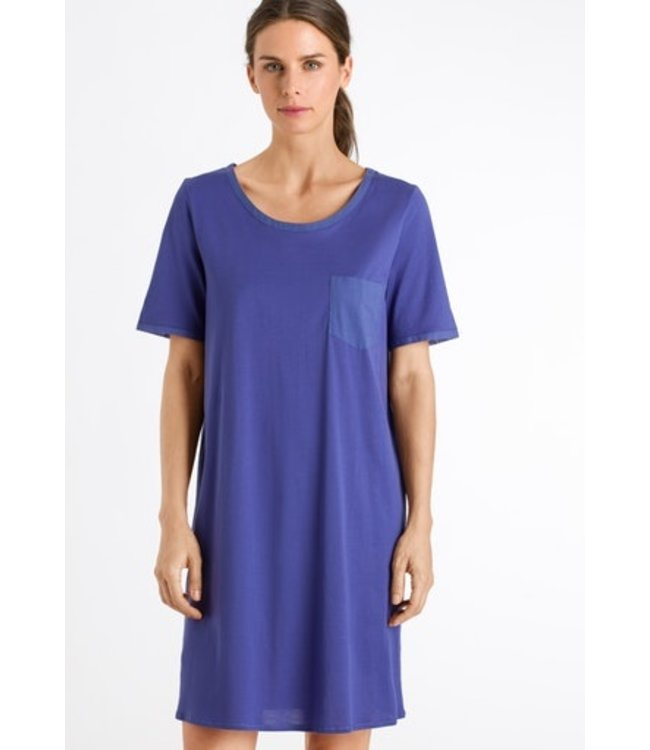 Cotton Deluxe Short Sleeve Nightdress Wisteria