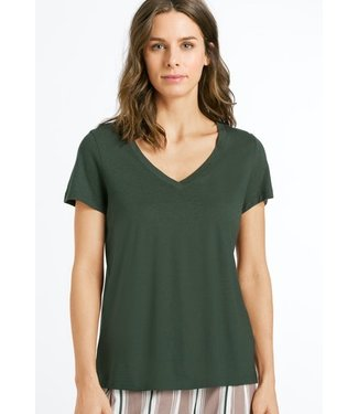 Hanro Sleep & Lounge Shirt Green Marble (NEW)