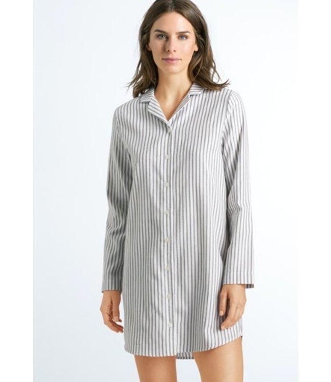 Edda Long Sleeve Nightdress Azurite Stripe (NEW)