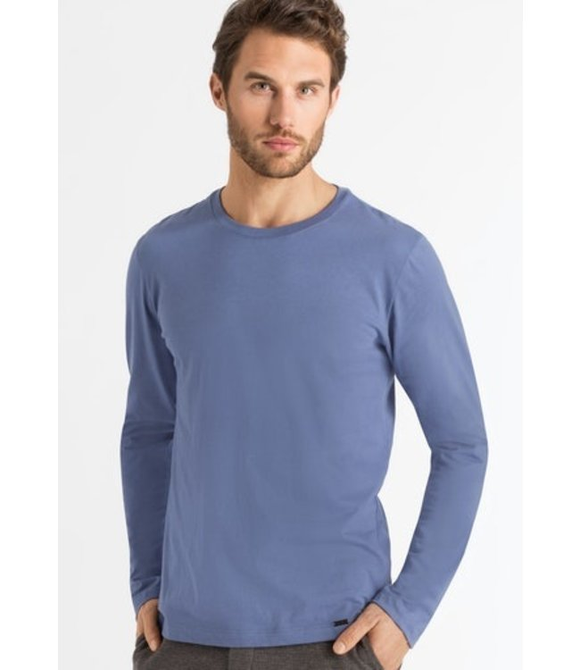 Hanro Living Shirts Long Sleeve Clematis Blue (NEW ARRIVALS)