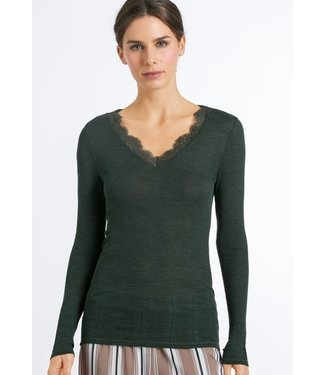 Woolen Lace Long Sleeve Shirt Green Marble (NEW ARRIVALS)