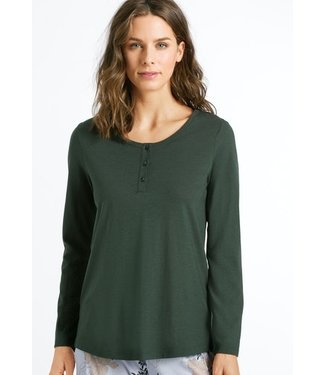 Sleep & Lounge Long Sleeve Shirt Green Marble (NEW)