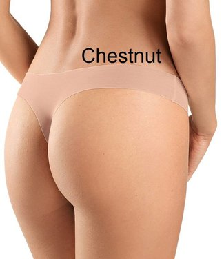Invisible Cotton Thong Chestnut
