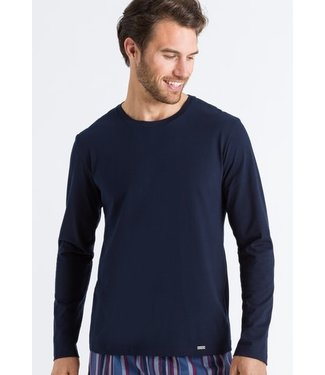 Hanro Living Shirts Long Sleeve Deep Navy (NEW ARRIVALS)