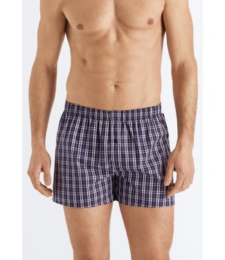 Fancy Woven Boxer Orange Blue Check (NEW ARRIVALS)