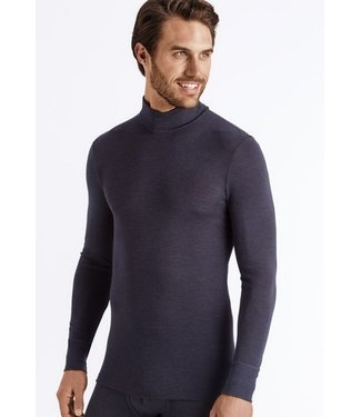 Woolen Silk Turtle Neck Long Sleeve Anthracite