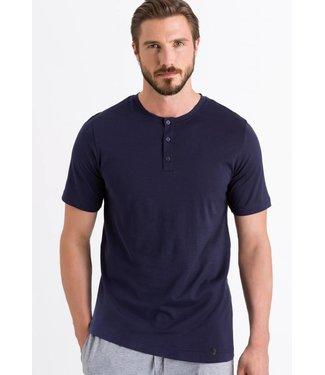 Night & Day Henley Shirt Black Iris