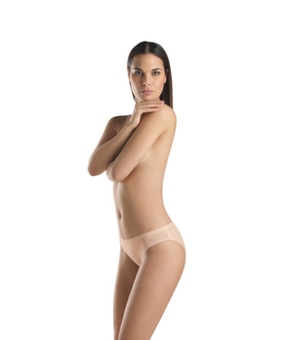 Perfectly Nude Cotton Velvet Midi Brief Beige