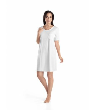 Cotton Deluxe Short Sleeve Nightdress White