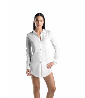 Cotton Deluxe Nightshirt Carry White