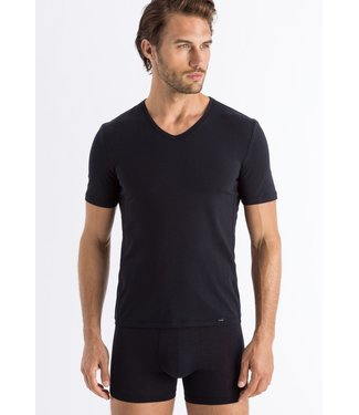 Hanro Natural Function Shirt V-Neck Black (NEW BASIC)