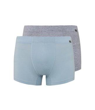 Cotton Essentials Pants 2-Pack Aquamarine/Light Melange