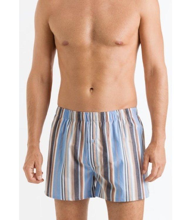 Fancy Woven Boxers Orange Blue Stripe (NEW ARRIVALS)