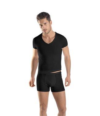 Micro Touch Shirt V-Neck Black
