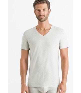 Cotton Superior Shirt V-Neck Grey Melange (NEW ARRIVALS)