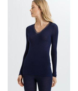 Woolen Lace Long Sleeve Shirt Intense Blue (NEW ARRIVALS)