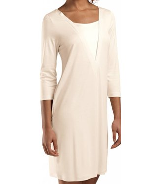 Viola Three-Quarter Sleeve Dress Pearled Ivory