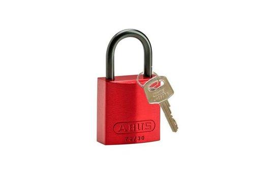 Sicherheitsvorhängeschloss aus eloxiertes Aluminium rot 834858