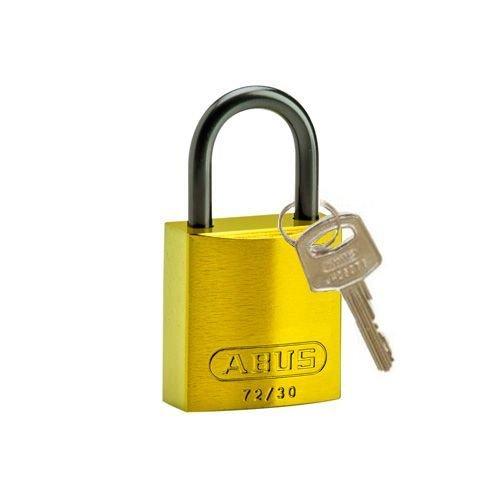 Sicherheitsvorhängeschloss aus eloxiertes Aluminium gelb 834859