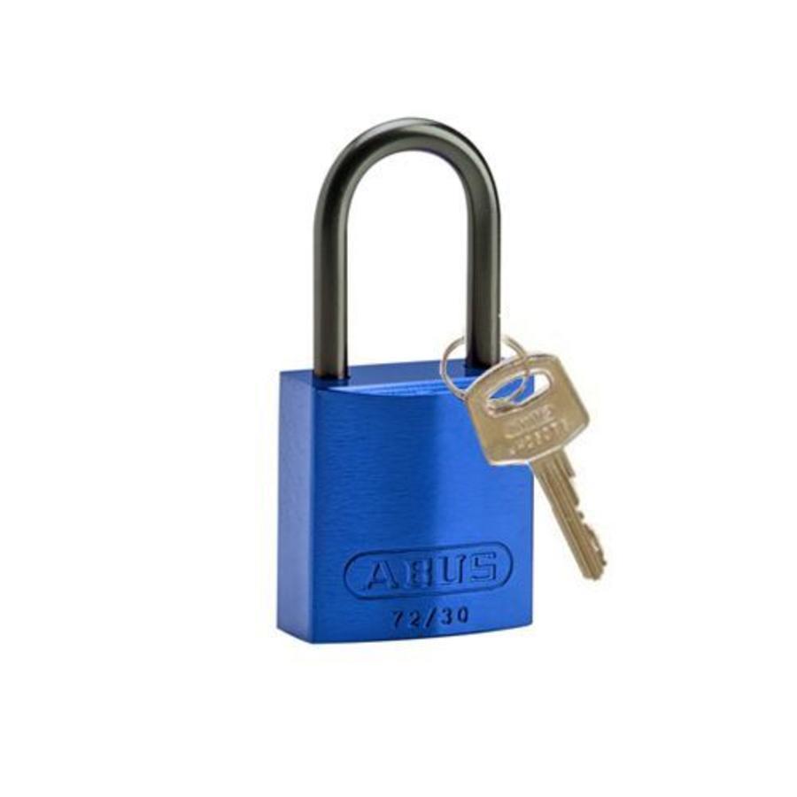 Sicherheitsvorhängeschloss aus eloxiertes Aluminium blau 834862