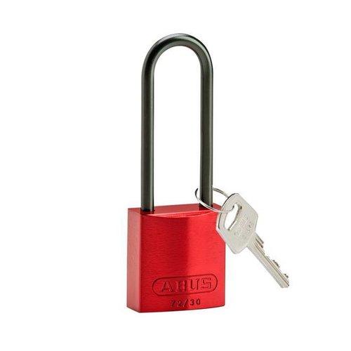 Sicherheitsvorhängeschloss aus eloxiertes Aluminium rot 834876