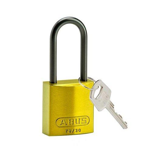 Sicherheitsvorhängeschloss aus eloxiertes Aluminium gelb 834871