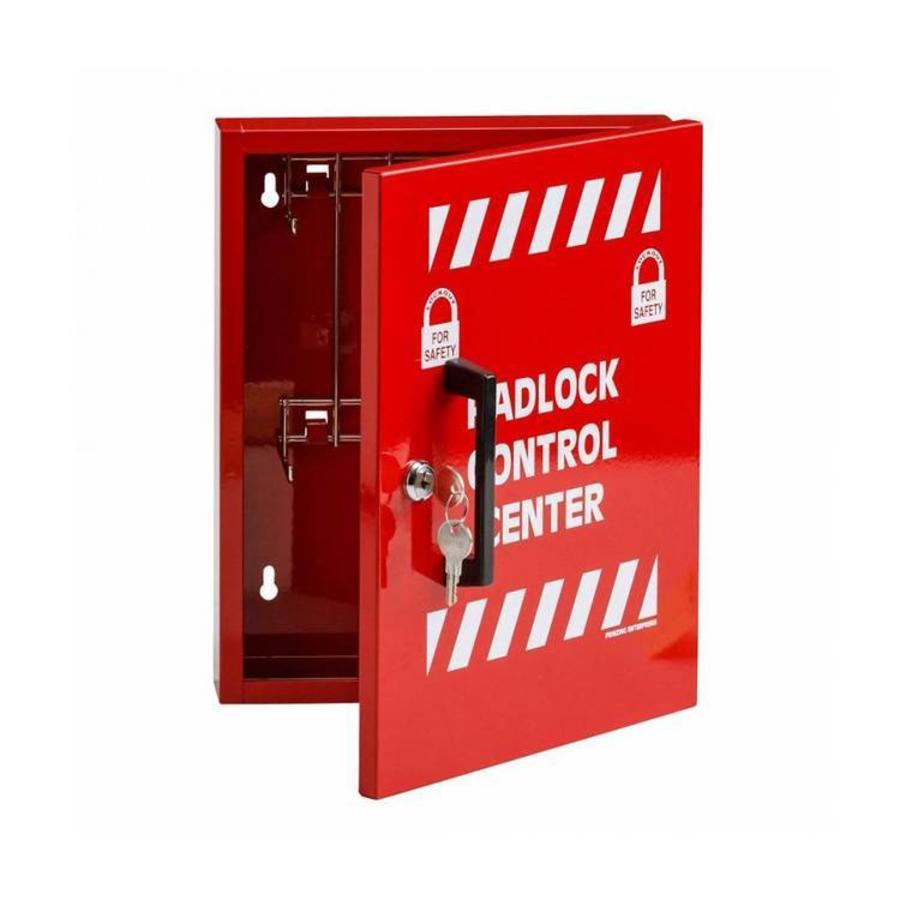 Vorhängeschloss control center mit 8 Haken Rot 800119