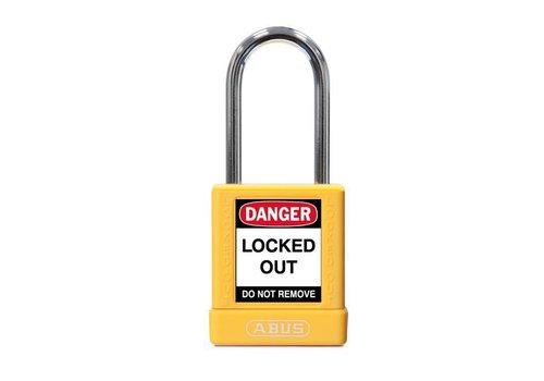 Aluminium Sicherheits-vorhängeschloss mit gelber Abdeckung 74BS/40 gelb