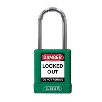 Aluminium Sicherheits-vorhängeschloss mit grüner Abdeckung 77570