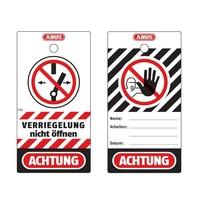 Abus Aluminium Sicherheits-vorhängeschloss mit rote Abdeckung 77569