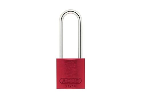 Sicherheitsvorhängeschloss aus eloxiertes Aluminium rot 72/30HB50 ROT