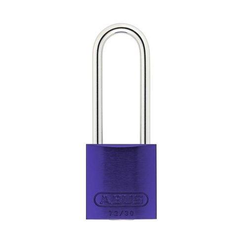 Sicherheitsvorhängeschloss aus eloxiertes Aluminium lila 72/30HB50 LILA