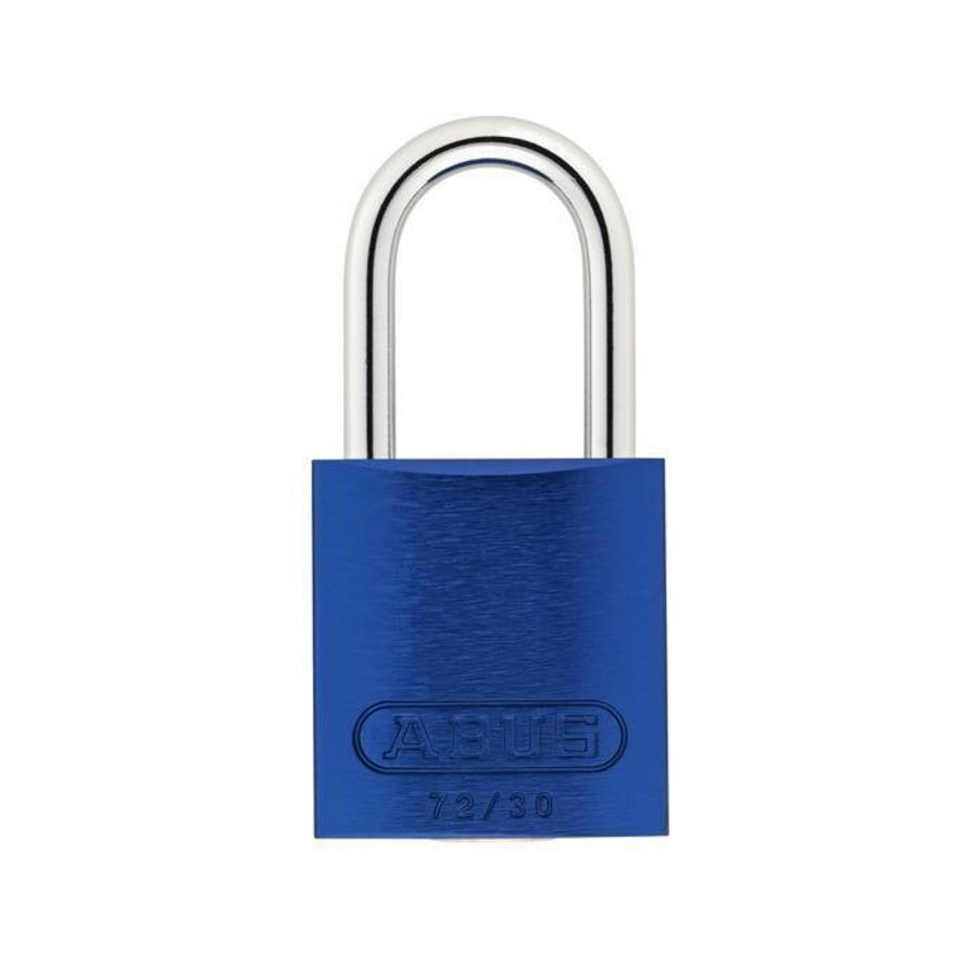 Sicherheitsvorhängeschloss aus eloxiertes Aluminium blau 72/30 BLAU