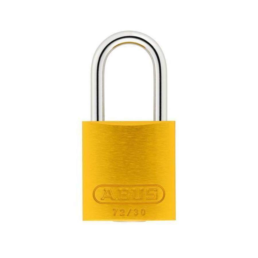 Sicherheitsvorhängeschloss aus eloxiertes Aluminium gelb 72/30 GELB