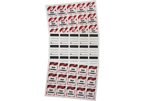Vorhängeschloss Etiketten für Brady Schlosser Y4042814