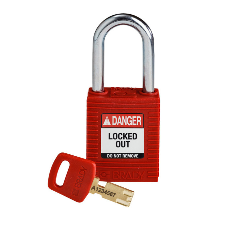 SafeKey nylon Sicherheits-vorhängeschloss rot 150321 / 150270