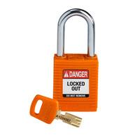 SafeKey nylon Sicherheits-vorhängeschloss schwarz orange 150320 / 150364