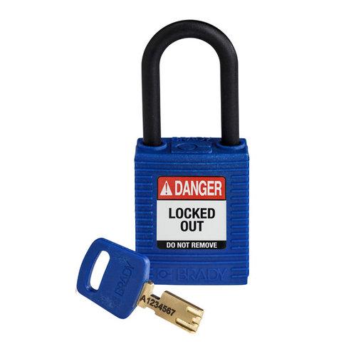 SafeKey nylon Sicherheits-vorhängeschloss blau 150366