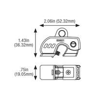 Universeller mini-Leitungsschultzschalter-Verriegelung  (120/240V)  S3821