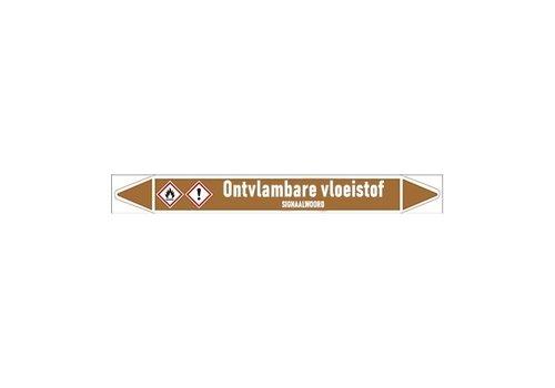 Rohrmarkierer: Afvoer | Niederländisch | Brennbare Flüssigkeiten
