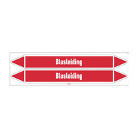 Rohrmarkierer: Blusleiding   Niederländisch