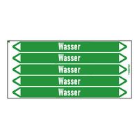Rohrmarkierer: Heizung Rücklauf | Deutsch | Wasser