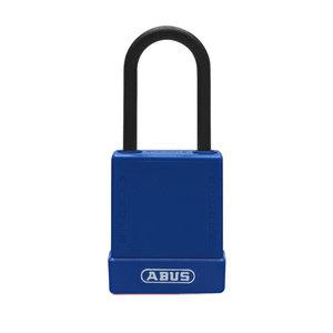 Abus Aluminium Sicherheits-vorhängeschloss mit blauer Abdeckung 84810