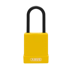 Abus Aluminium Sicherheits-vorhängeschloss mit gelber Abdeckung 84808