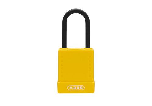 Aluminium Sicherheits-vorhängeschloss mit gelber Abdeckung 76PS/40 gelb