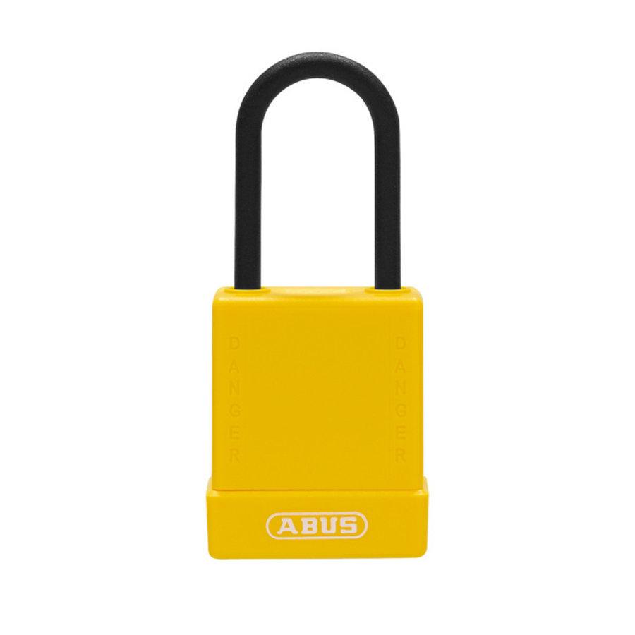 Aluminium Sicherheits-vorhängeschloss mit gelber Abdeckung 84808