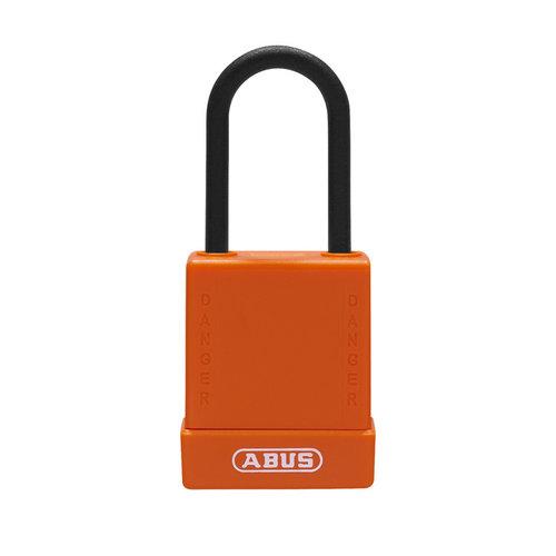Aluminium Sicherheits-vorhängeschloss mit oranger Abdeckung 76PS/40 orange