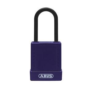 Abus Aluminium Sicherheits-vorhängeschloss mit lila Abdeckung 84812